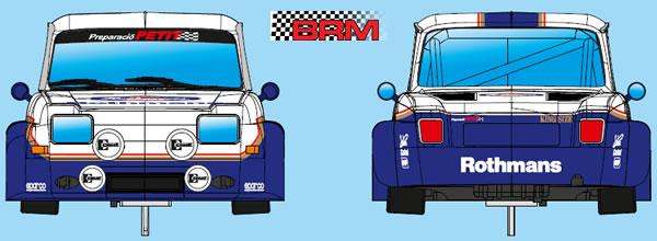 BRM: Une nouvelle livrée Rothmans Version pour la Simca 1000 Gr2.