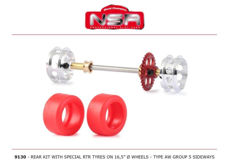 9130 – Kit arrière avec jantes, pneus pour Groupe 5 AW Sideways
