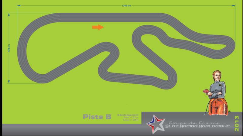 Piste de slot racing bois du LSR 62
