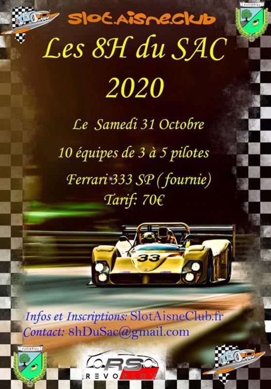 Slot Aisne Club les 8h du SAC 2020 en Ferrari 333 SP Revoslot
