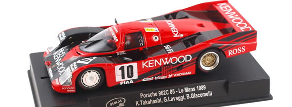 Slot.it: la Porsche 962C 85 No.10 Kenwood, Le Mans 1989 – Ref: SICA34C