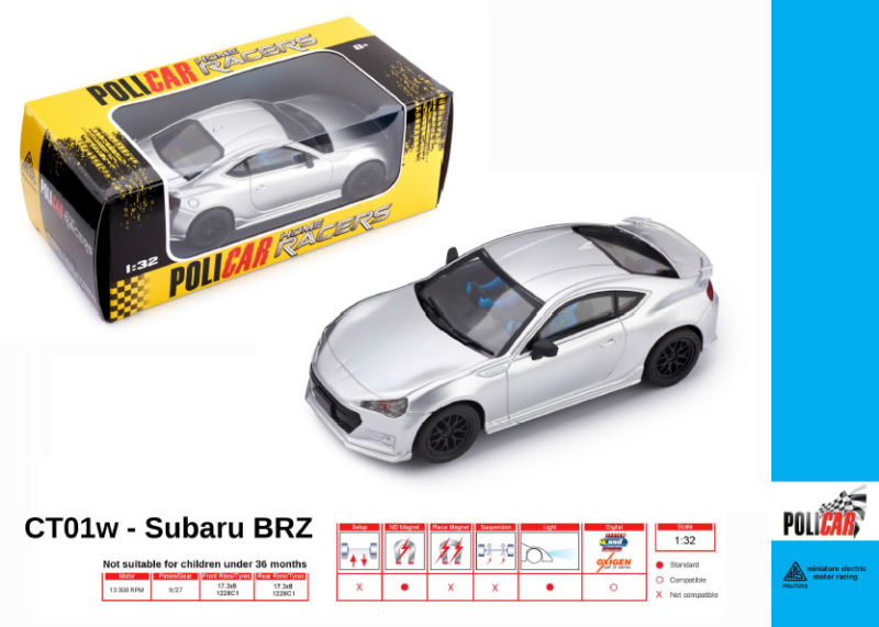 Policar - Subaru BRZ Gris - CT01w