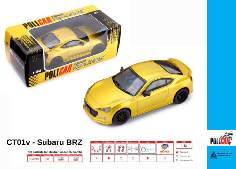 Policar - Subaru BRZ Jaune - CT01v