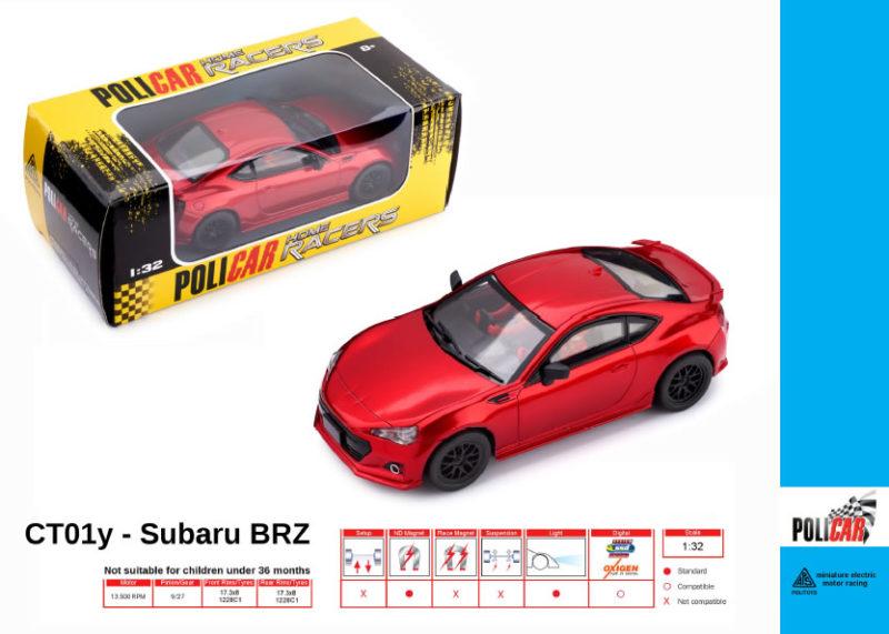 Policar - Subaru BRZ Rouge - CT01y
