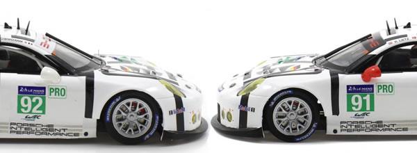 Scaleauto: les deux Porsche 911 GT3 RSR Team Manthey le Mans 2015.