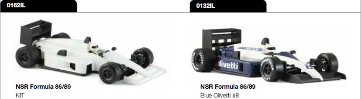 Formule 1 86-89 - wihite kit & 0132IL