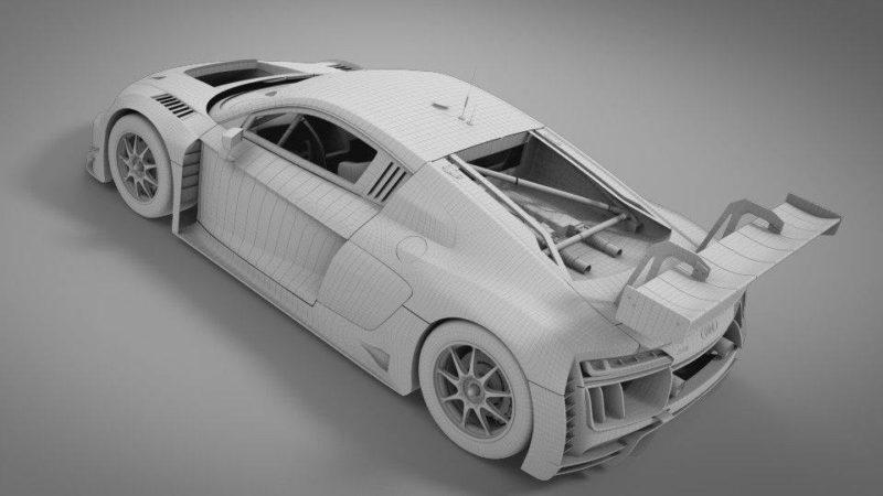 Scaleauto Un nouveau moule carrosserie pour l'Audi R8 LMS GT3 124