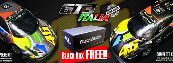 Black Arrow Deux versions de la GT3 Italia Valentino Rossi Nürburgring 2012