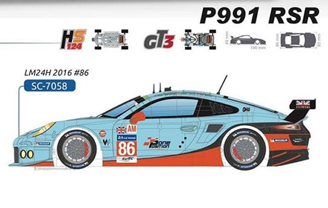 La Porsche 991 RSR - 24h du Mans 2016 #86 - SC-7058