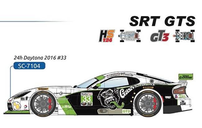 La Viper SRT GTS Gas Monkey - 24h Daytona 2016 #33 - SC-7104