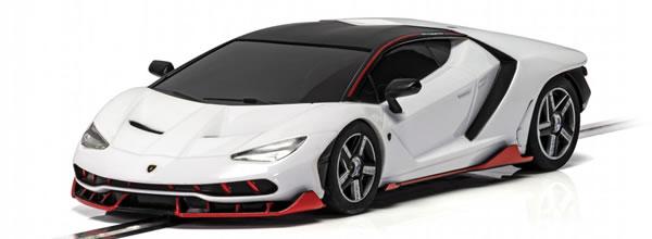 Scalextric: la Lamborghini Centenario white C4087