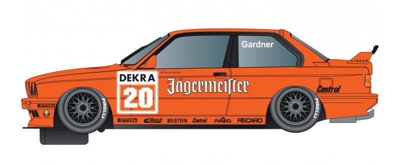 BMW E30 M3 - Team Jagermeister - #20 - Gardner