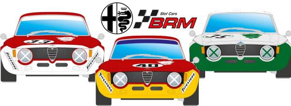 BRM: l'Alfa GTA roulera sur les pistes de slot au mois de mai