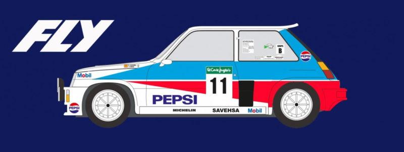FLY E2008 Renault 5 Turbo Rallye El Corte Ingles 1986
