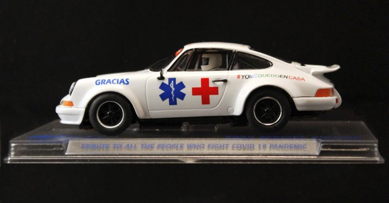 Fly Slot La Porsche 911 #stayathome pour la Croix Rouge