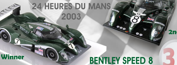 Le Mans miniatures: rééditions des deux Bentley EXP Speed 8 - 24h du Mans 2003