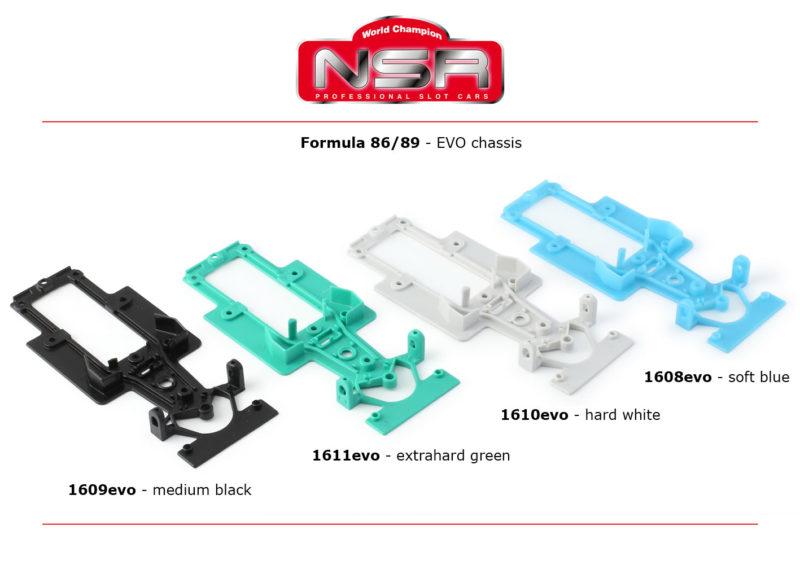 """NSR Slot: Des chassis EVO pour les """"Formule 86/89"""""""