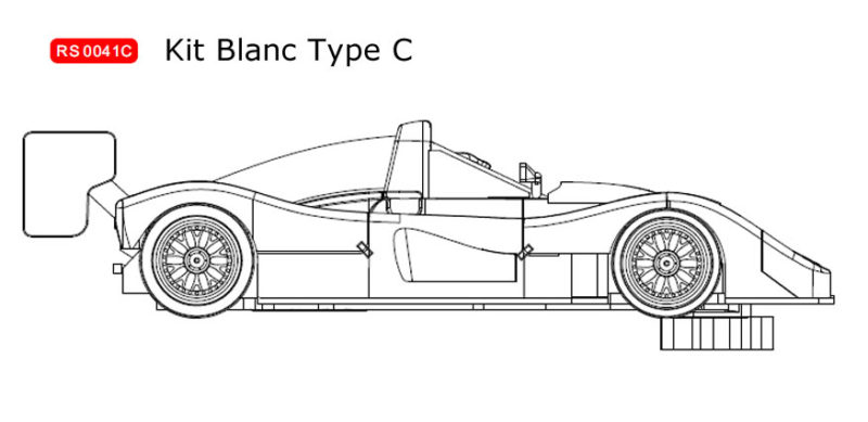 RS0041C Kit blanc Ferrari 333 SP à monter