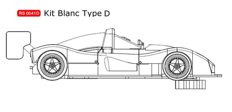 RS0041D Kit blanc Ferrari 333 SP à monter