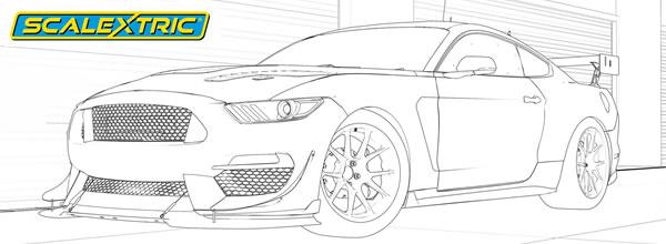 Scalextric: Dessinez votre Mustang GT4