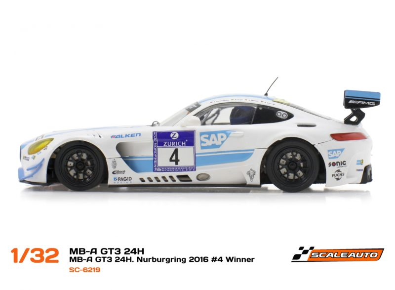 Scaleauto: La MB-A GT3 Winner – 24H Nurburgring 2016 #4 AMG-Team Black Falcon (SC-6219)