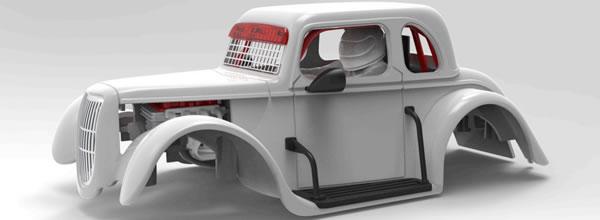 Pioneer Slot des guides pour monter la Ford 34 et la Chevy 1937