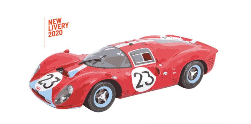 Policar CAR06c Ferrari 412P n.23 Le Mans 1967