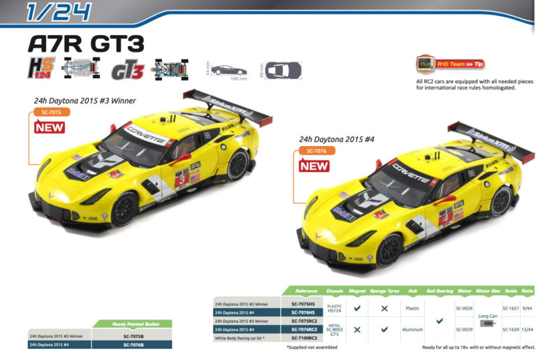 Scaleauto - C7R Daytona 2015 1-24