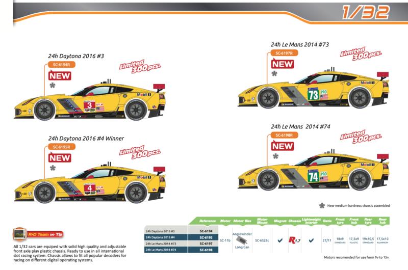 Scaleauto - complète série C7R - Daytona & Le Mans