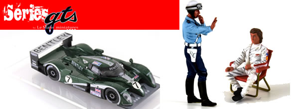 Le Mans miniatures: Des figurines et la Bentley Speed 8 en juin