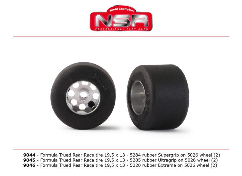 Roue avec pneu racing F1 NSR