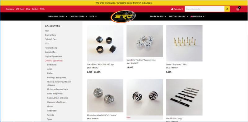 SRC Un nouveau site Internet pour la marque - la boutique