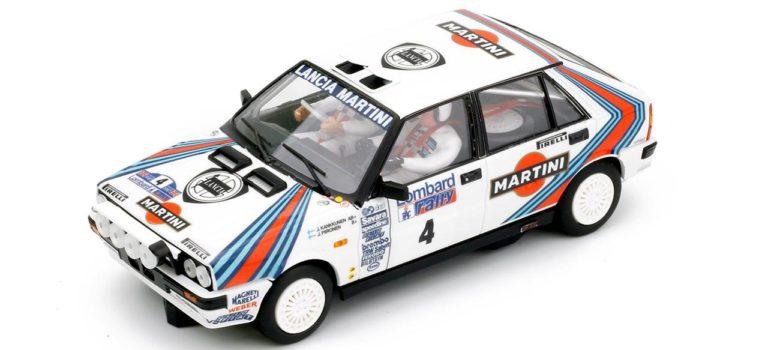 Team Slot: la Lancia Delta HF Juha Kankkunen RAC Rallye 1987.