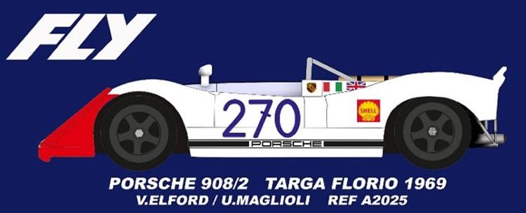 FLY A2025 Porsche 908/2 #270 Targa Florio 1969