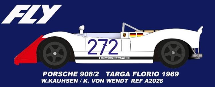 FLY A2026 Porsche 908/2 #272 Targa Florio 1969