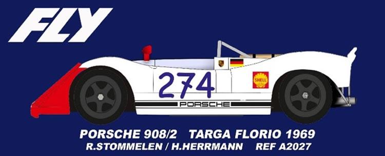 FLY A2027 Porsche 908/2 #274 Targa Florio 1969