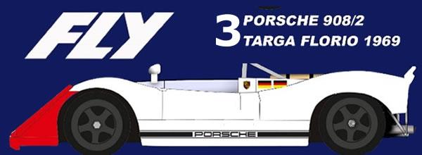 Fly Car Model: Trois Porsche 908/2 Targa Florio 1969