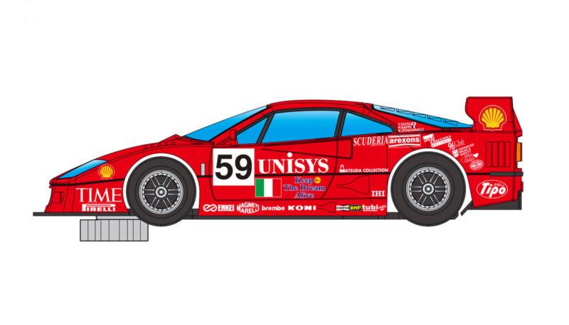 Revsolot - Ferrari F40 Unisys - Le Mans 1997 #59 -- RS0067