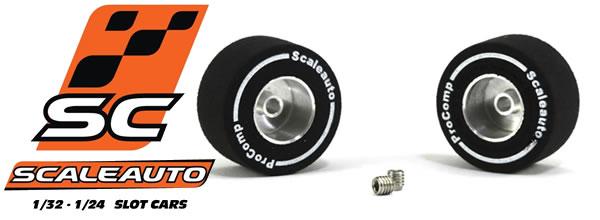 Scaleauto: Des roues en mousse pour slot cars 1/32 et 1/24