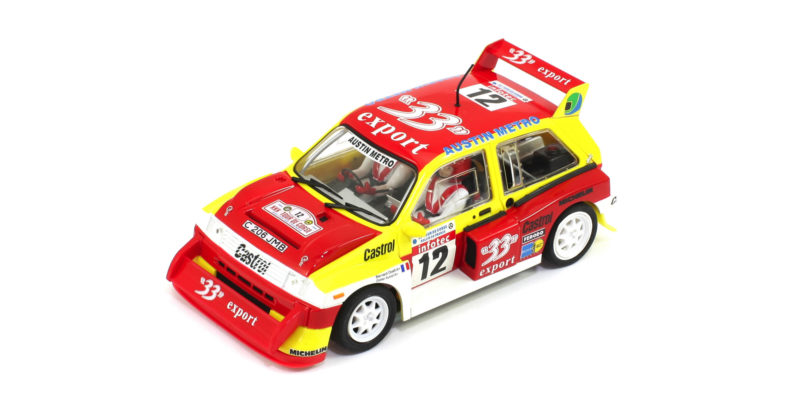 Scaleauto Une nouvelle version de la MG Metro 6R4 33 Export Tour de Corse 1986