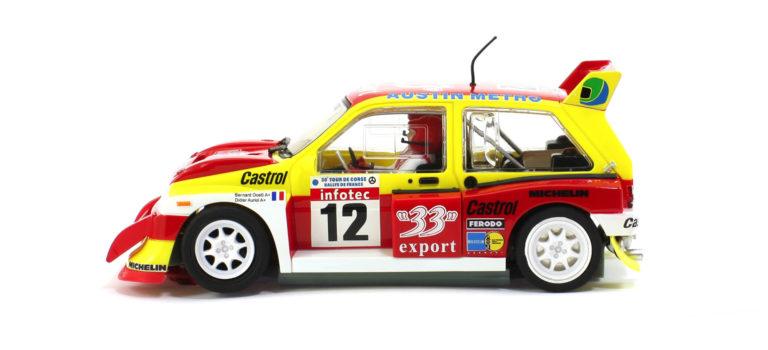 Scaleauto: La réédition de la MG Métro 6R4 33 Export Tour de Corse 1986