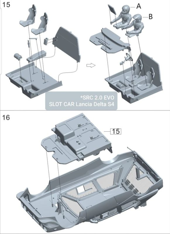 SRC: Les étapes du montage des Lancia Delta S4