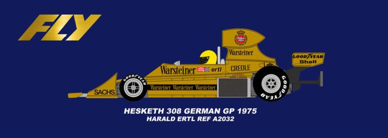 Fly Hesketh 308 - GP allemand 1975 Harald Ertl