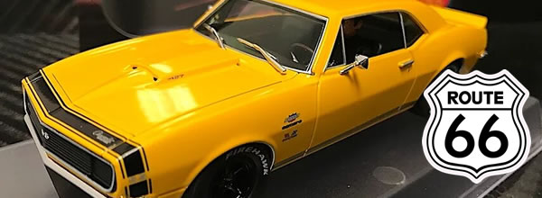 "Pioneer Slot: deux Chevy Camaro Yenko version ""Route 66"""