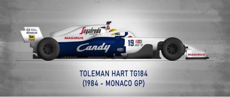 Toleman Hart TG184 1984 - Monaco GP - Senna