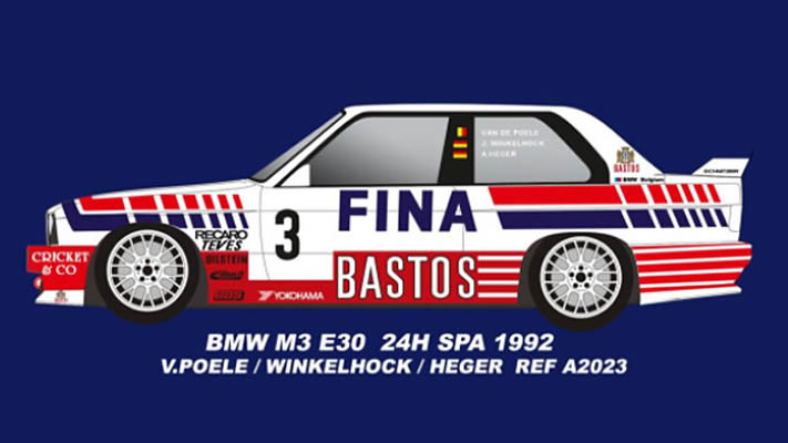 FLY A2023 BMW M3 E30 24H SPA 1992