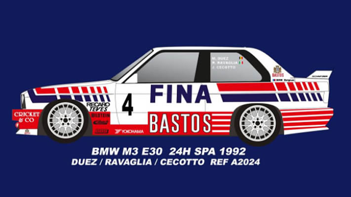 FLY A2024 BMW M3 E30 24H SPA 1992