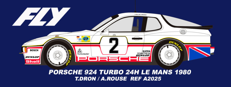 Fly Car Model - A2025 Porsche 924 Royaume-Uni #2