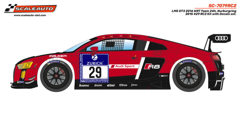 LMS GT3 2016 WRT Team 24h. Nurburgring 2015 # 29 en kit RC2