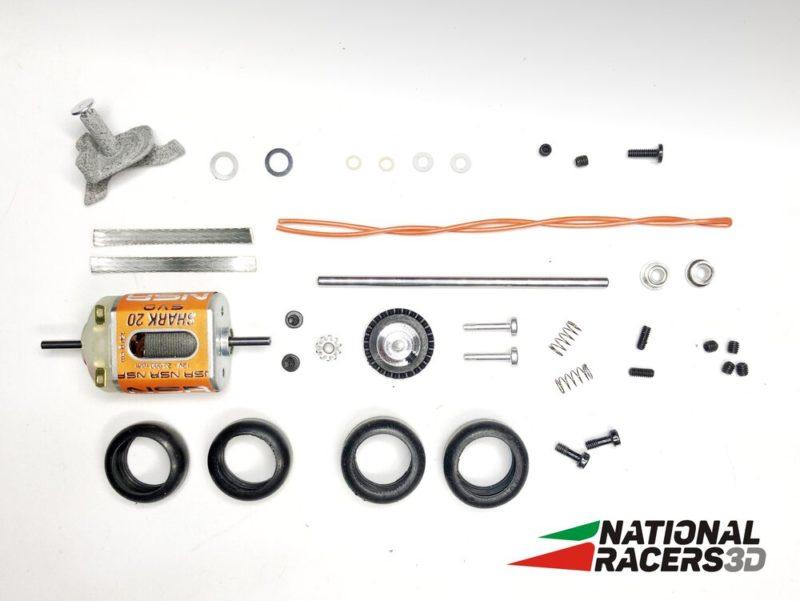 Parties mécaniques de la Formula F NR3D